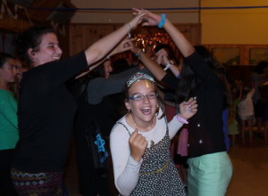 Bat Mitzvah celebration at camp!